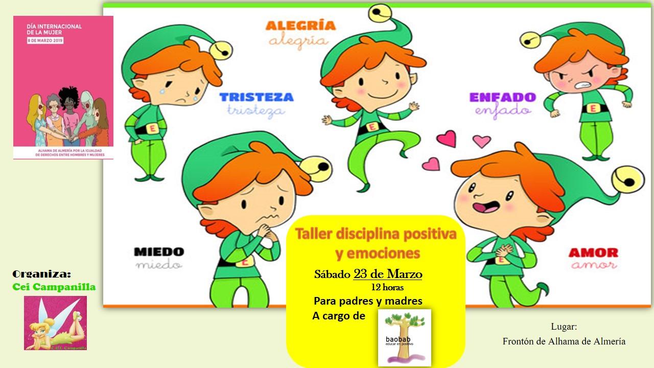 Taller de Displina Positiva y Emociones en Alhama de Almería